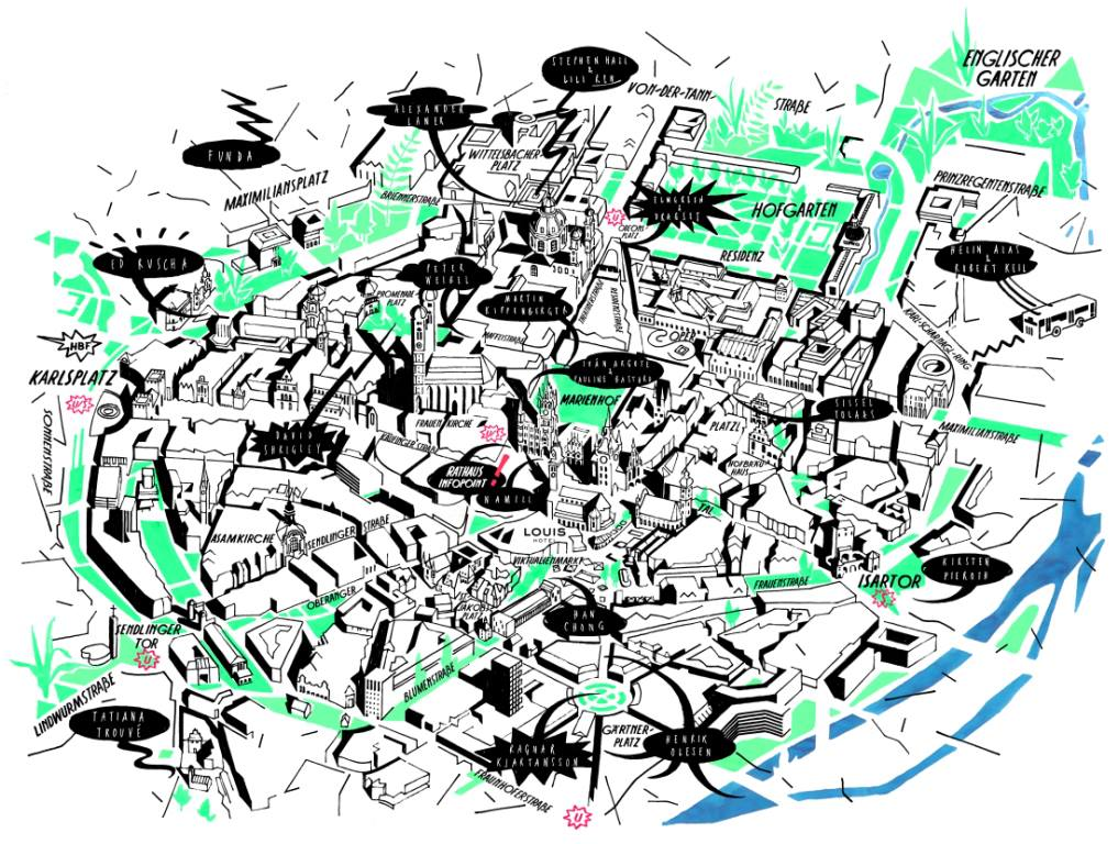 Stadtplan der Standorte von A Space Called Public / Hoffentlich Öffentlich